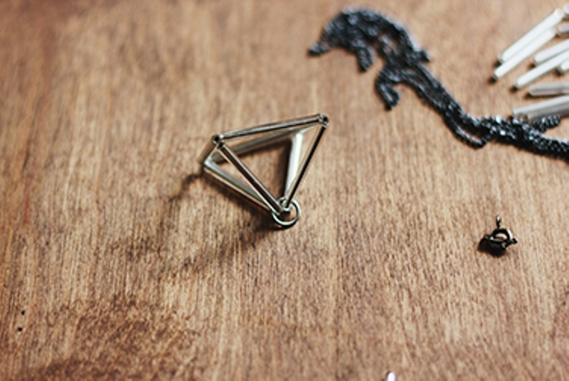 Picture Of DIY Triangle Prism Necklace 5