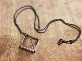 DIY Triangle Prism Necklace 6