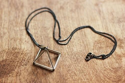 Casual DIY Triangle Prism Necklace