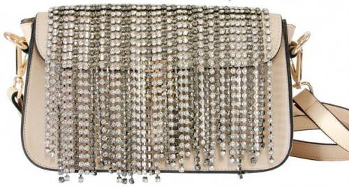 DIY Ultrafashionable Crystal Fringe Bag