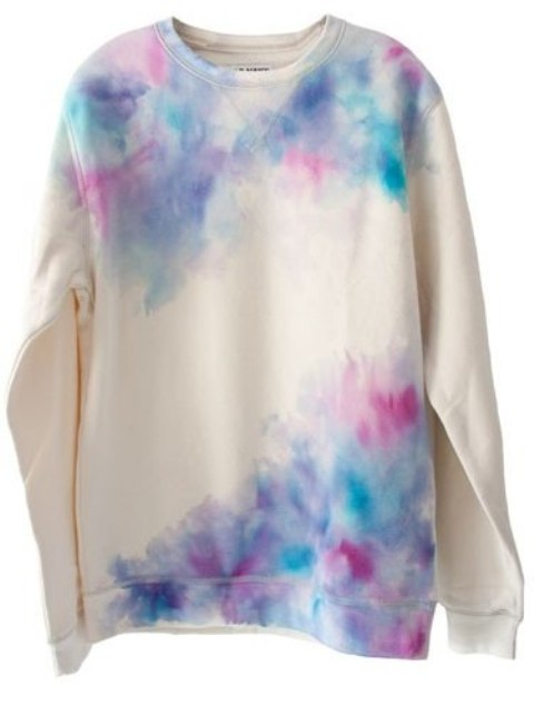DIY Watercolor Sweatshirt In Gentle Shades