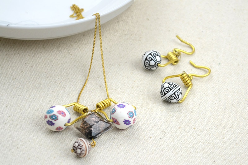 DIY Your Own Earrings and Necklace with Polymer Clay Beads