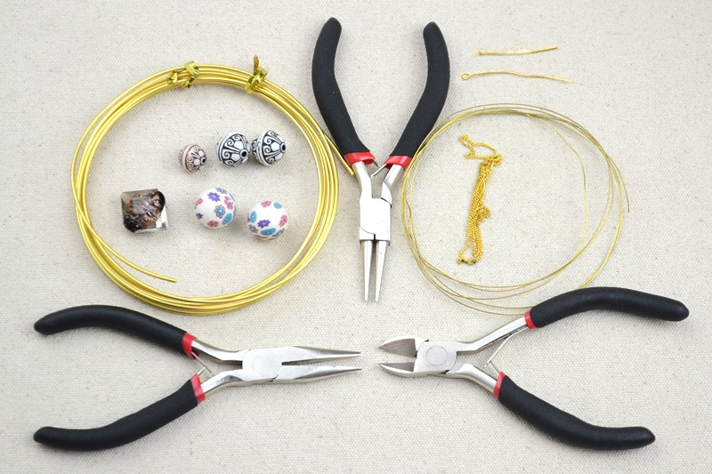 Picture Of DIY Your Own Earrings and Necklace with Polymer Clay Beads 2