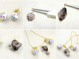 DIY Your Own Earrings and Necklace with Polymer Clay Beads4