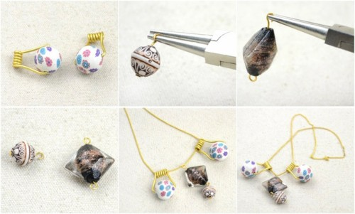DIY Earrings And Necklace With Polymer Clay Beads
