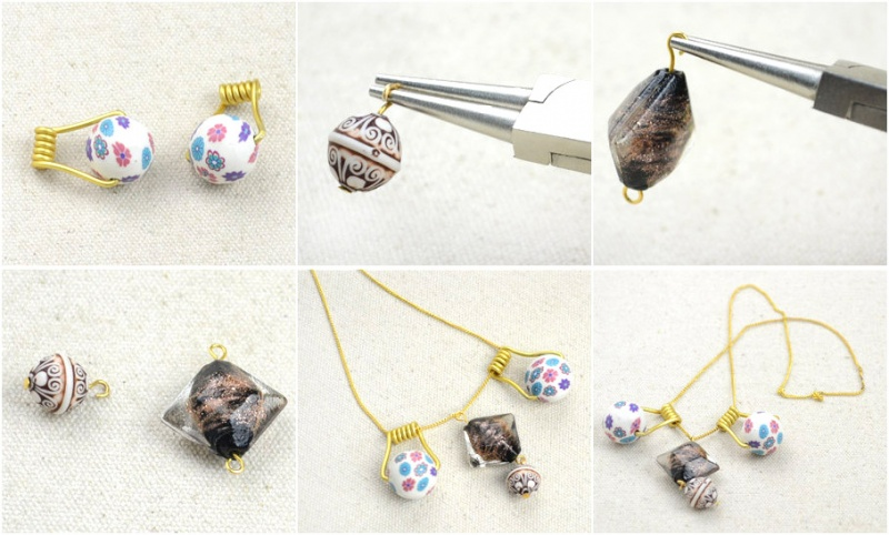 Picture Of DIY Your Own Earrings and Necklace with Polymer Clay Beads 4