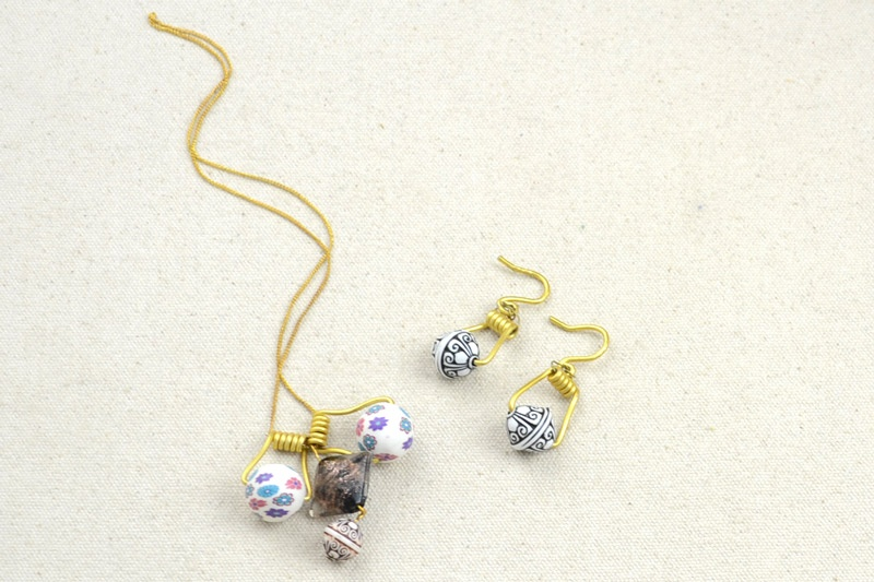 Picture Of DIY Your Own Earrings and Necklace with Polymer Clay Beads 5
