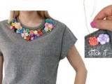 Delicate DIY Floral Sweatshirt3