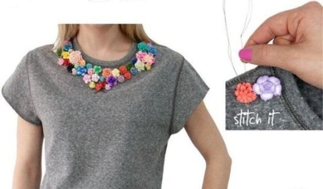 Picture Of Delicate DIY Floral Sweatshirt 3