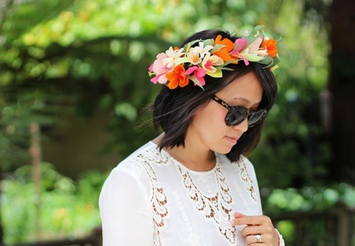 Delicate DIY Paper Flower Crown