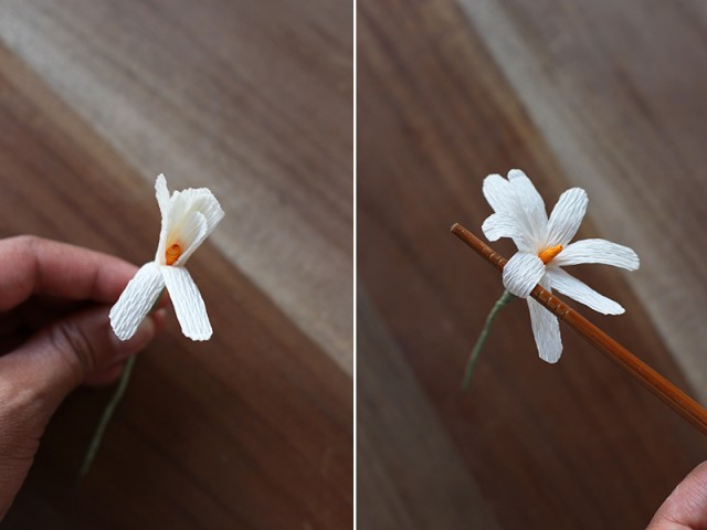 Picture Of Delicate DIY Paper Flower Crown 14