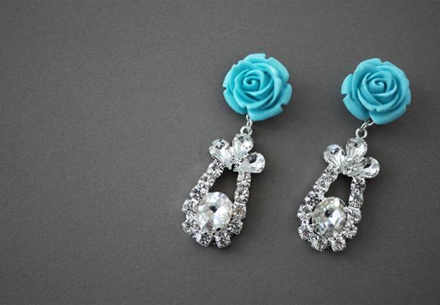Delicate DIY Rose Earrings