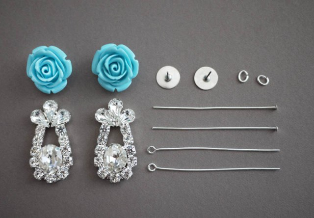 Picture Of Delicate DIY Rose Earrings 2