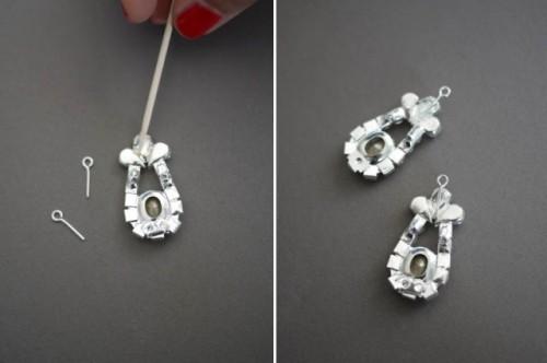 Delicate DIY Prada Inspired Rose Earrings