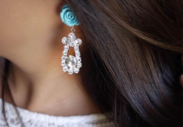Picture Of Delicate DIY Rose Earrings 8