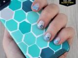 Delicate DIY Silver Stripe Nail Art