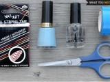 Delicate DIY Silver Stripe Nail Art2