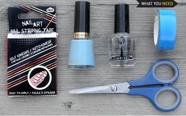 Picture Of Delicate DIY Silver Stripe Nail Art 2