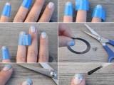 Delicate DIY Silver Stripe Nail Art3