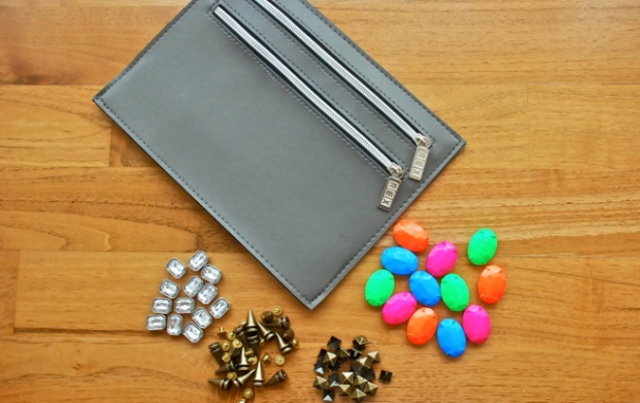 Easy DIY Embellished Clutch