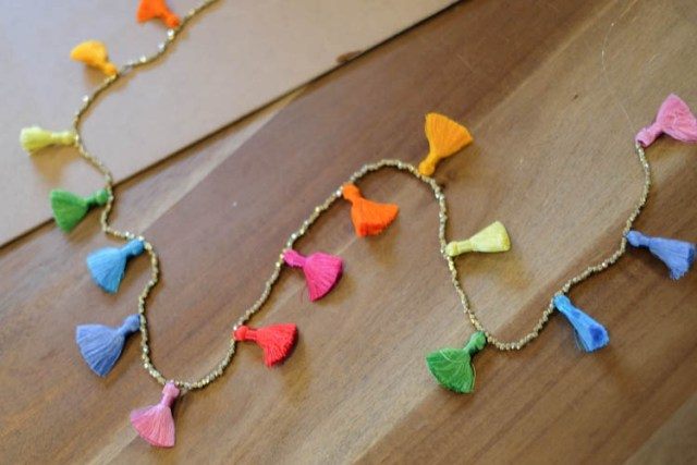 Picture Of Easy To Make DIY Beaded Tassel Necklace 6
