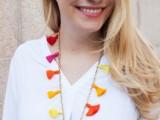 Easy-To-Make DIY Beaded Tassel Necklace7