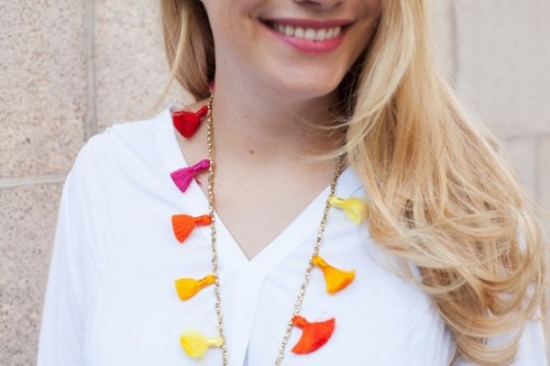 Easy To Make DIY Beaded Tassel Necklace
