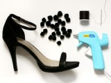 Easy-To-Make DIY Beautiful Strappy Heels With Pom Poms 2