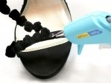 Easy-To-Make DIY Beautiful Strappy Heels With Pom Poms 4