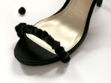 Easy-To-Make DIY Beautiful Strappy Heels With Pom Poms5