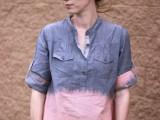 Easy-To-Make DIY Bleach Dipped Chambray Shirt
