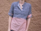 Easy-To-Make DIY Bleach Dipped Chambray Shirt 2