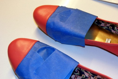 Easy To Make DIY Capped Toe Flats For This Season