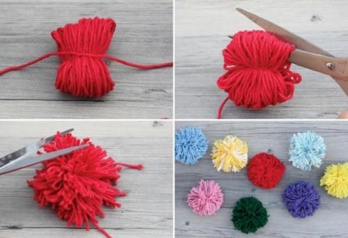 Easy To Make DIY Original Pom Pom Tote