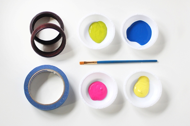 Picture Of Easy To Make DIY Painted Wood Bangles 2