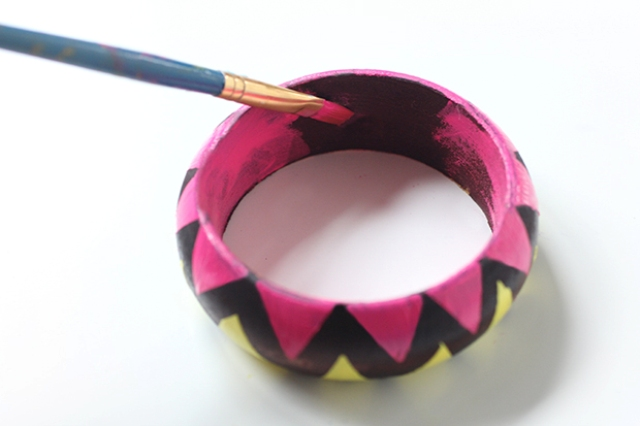 Picture Of Easy To Make DIY Painted Wood Bangles 6