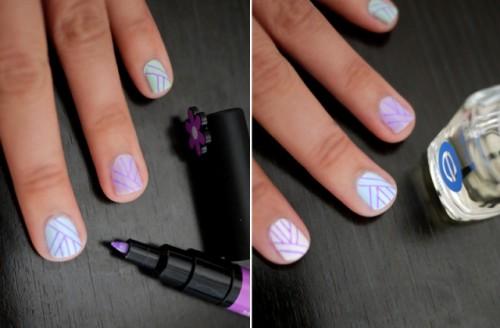 Girlish DIY Quick Nail Art