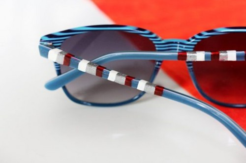 Easy-To-Make DIY Striped 4th Of July Sunglasses