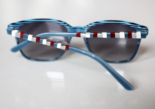 Easy To Make DIY Striped 4th Of July Sunglasses