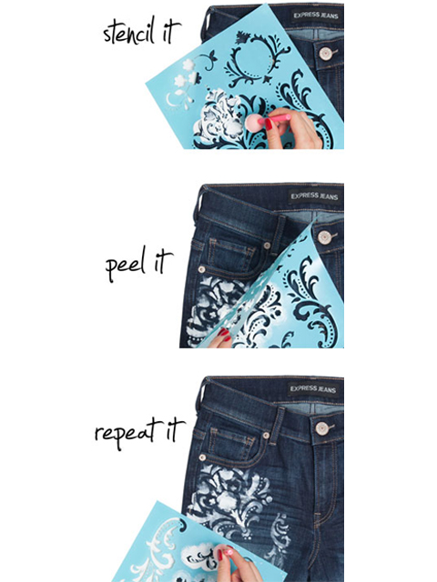 Picture Of Elegant DIY Baroque Painted Jeans 2