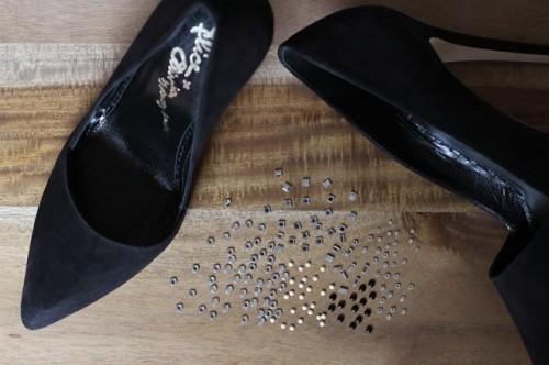 Elegant DIY Crystal Confetti Valentine's Day Shoes