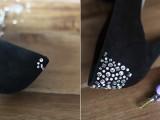 Elegant DIY Crystal Confetti Valentine's Day Shoes4