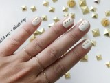 Elegant DIY Dots Nail Art With Delicate Rings