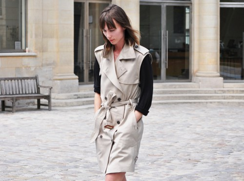 Elegant DIY Sleeveless Trench Coat