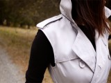 Elegant DIY Sleeveless Trench Coat5