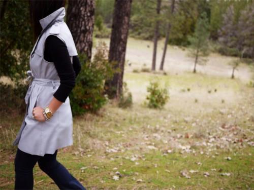 Elegant DIY Sleeveless Trench Coat