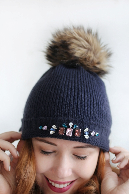 Eye Catching DIY Bedazzled Gem Hat