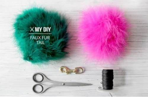 Eye Catching DIY Faux Fur Tail For Your Bag