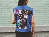 Eye-Catching DIY Floral Patchwork Denim Vest