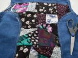 Eye-Catching DIY Floral Patchwork Denim Vest12
